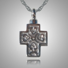 Filigree Cross Heart Cremation Jewelry