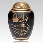 Curious Cat Cremation Urn