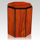 Gloss Rosewood Octagon Cremation Urn