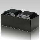 Orca Black Granite Companion Cremation Urn