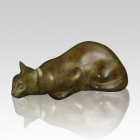 Calico Pouncing Cat Cremation Urn