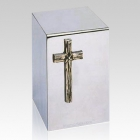 Rugged Cross Steel Cremation Urn