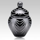 Trinity Black Crystal Cremation Urn