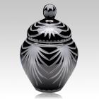 Trinity Black Crystal Cremation Urn