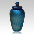 Green Gold Art Cremation Urn