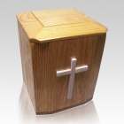 Holy Cross Wood Cremation Urn