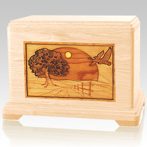 Geese Maple Cremation Urn For Two