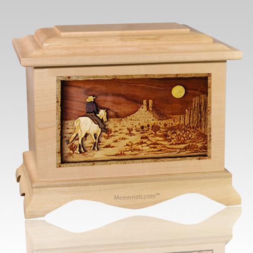 Horse Moon Maple Cremation Urn