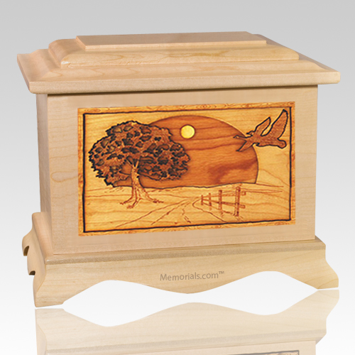 Geese Maple Cremation Urn